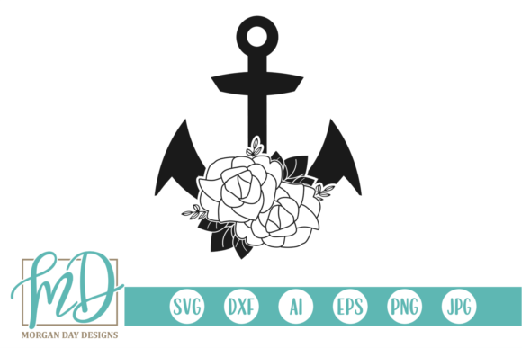 Download Free Floral Anchor Svg Graphic By Morgan Day Designs Creative Fabrica for Cricut Explore, Silhouette and other cutting machines.