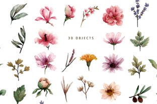 Print on Demand: Floral Botanical Watercolor Set Graphic Illustrations By Typia Nesia 7