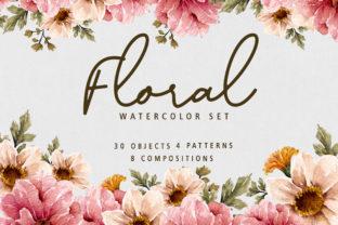 Print on Demand: Floral Botanical Watercolor Set Graphic Illustrations By Typia Nesia
