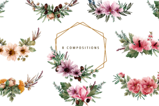 Print on Demand: Floral Botanical Watercolor Set Graphic Illustrations By Typia Nesia 6