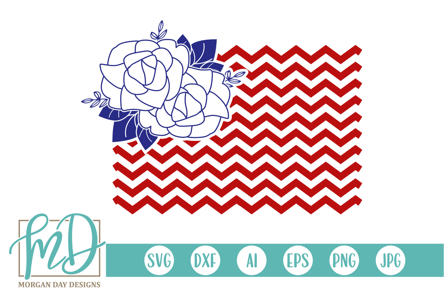 Download Free Floral Flag Svg Grafik Von Morgan Day Designs Creative Fabrica for Cricut Explore, Silhouette and other cutting machines.