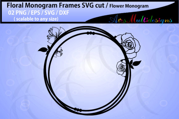 Print on Demand: Floral Frames, Flower Monogram Graphic Crafts By Arcs Multidesigns - Image 2