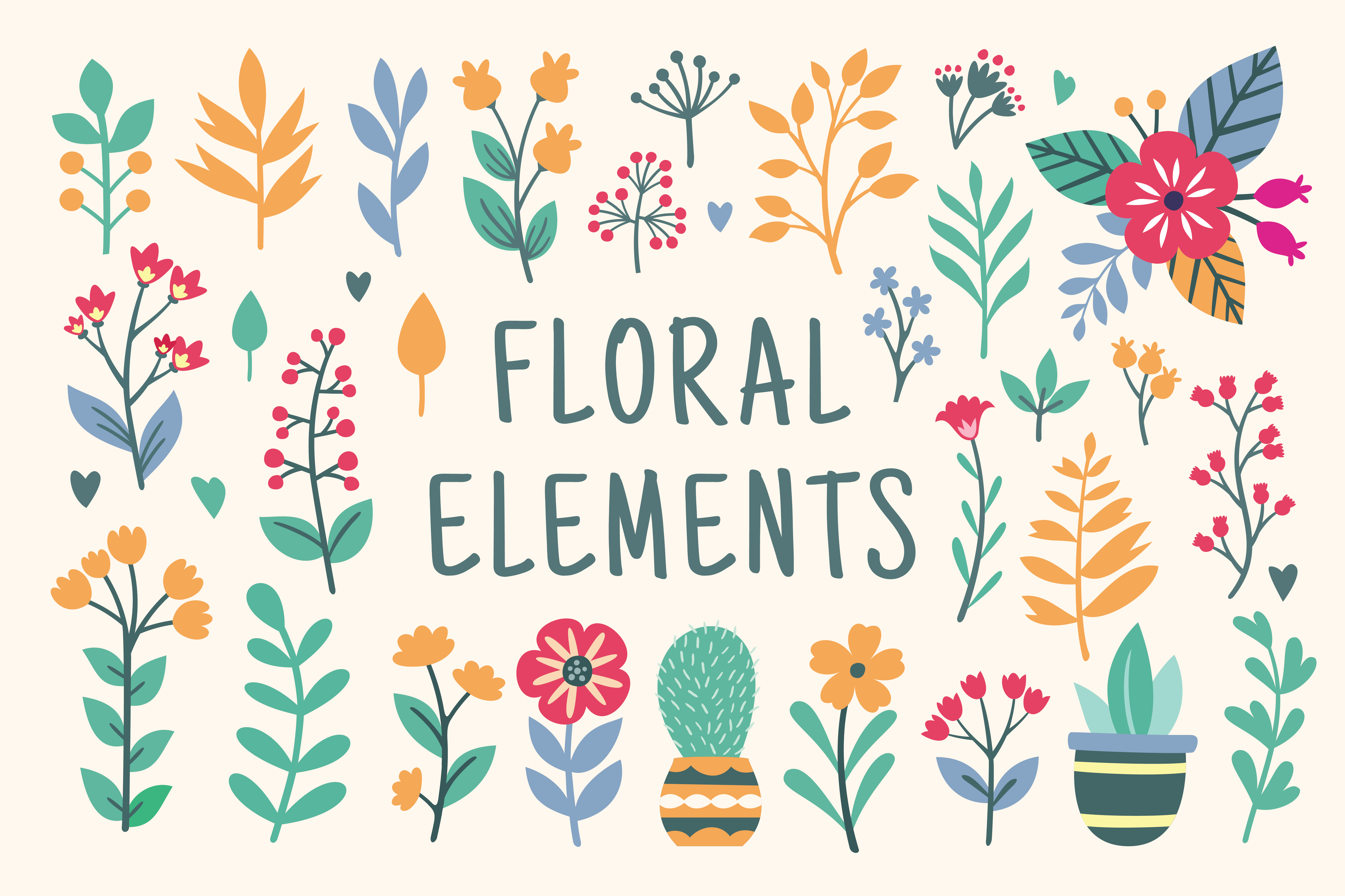 Download Free Floral Graphics And Illustration Graphic By Allmostudio for Cricut Explore, Silhouette and other cutting machines.