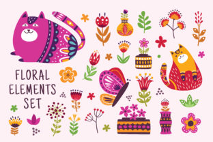 Floral Graphics and Illustration Graphic Illustrations By AllmoStudio