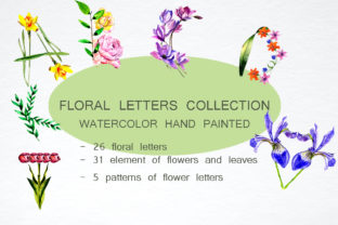 Floral Letters Collection Graphic By kakva