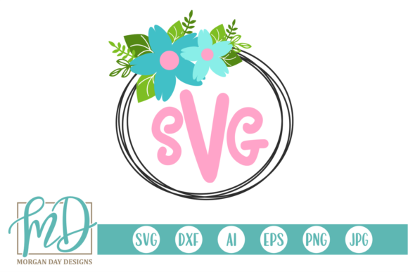 Download Free Floral Monogram Frame Svg Graphic By Morgan Day Designs for Cricut Explore, Silhouette and other cutting machines.