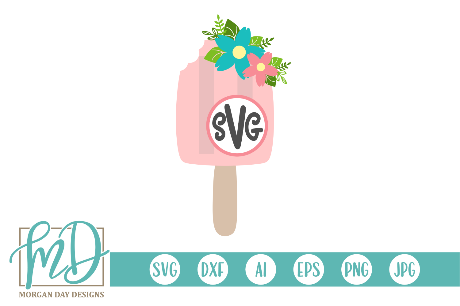 Floral Popsicle Monogram Svg Graphic By Morgan Day Designs Creative Fabrica