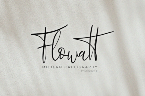 Print on Demand: Flowatt Script & Handwritten Font By Juncreative