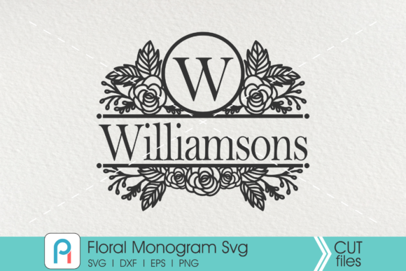 Flower Monogram Svg, Flower Svg, Floral Graphic Crafts By Pinoyartkreatib
