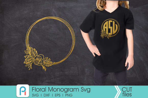 Flower Monogram Graphic Crafts By Pinoyartkreatib