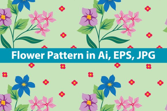 Print on Demand: Flower Pattern Graphic Patterns By purplebubble