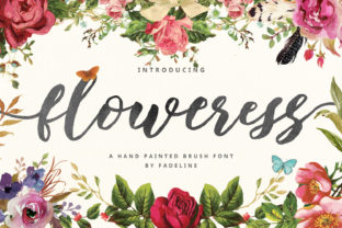 Floweress Font By FadeLine