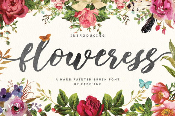 Print on Demand: Floweress Script & Handwritten Font By FadeLine