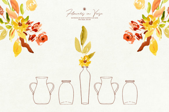 Flowers in Vase Graphic Illustrations By webvilla - Image 5