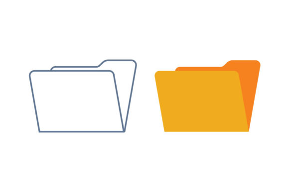 Folder Line/Color Icon Graphic By DonMarciano