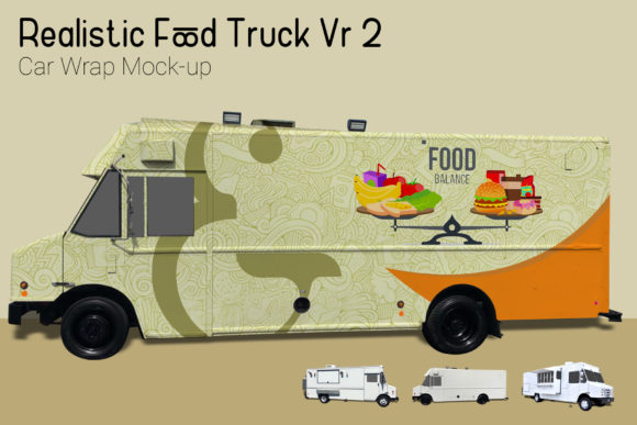 Download Free Food Truck Mock Up Graphic By Gumacreative Creative Fabrica for Cricut Explore, Silhouette and other cutting machines.