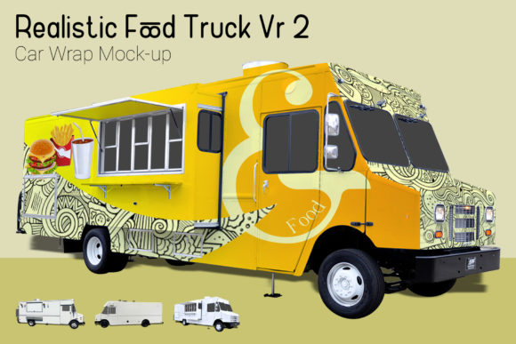 Food Truck Mock-Up Graphic By gumacreative