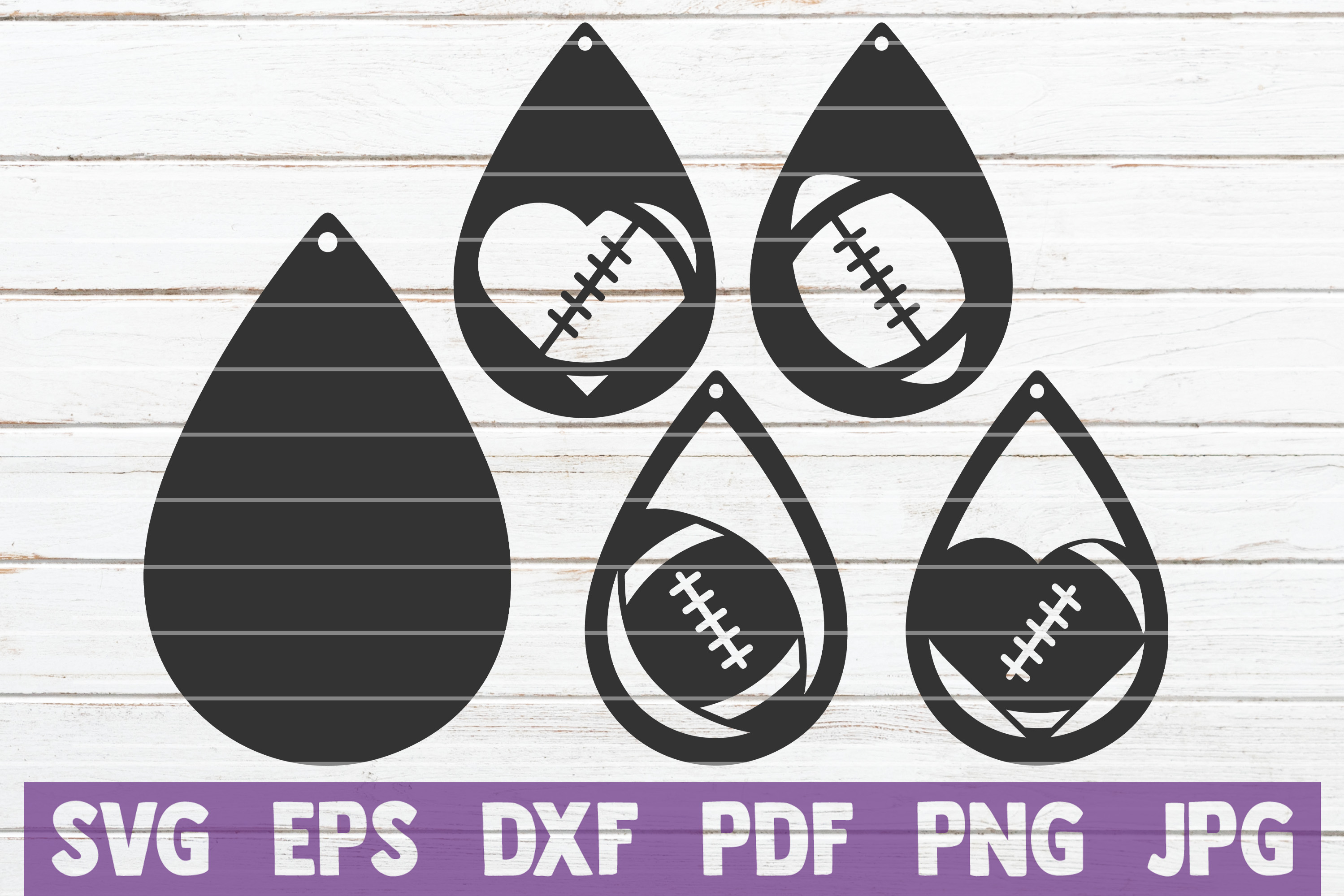 Download Free Football Earrings Cut Files Sport Graphic By Mintymarshmallows for Cricut Explore, Silhouette and other cutting machines.