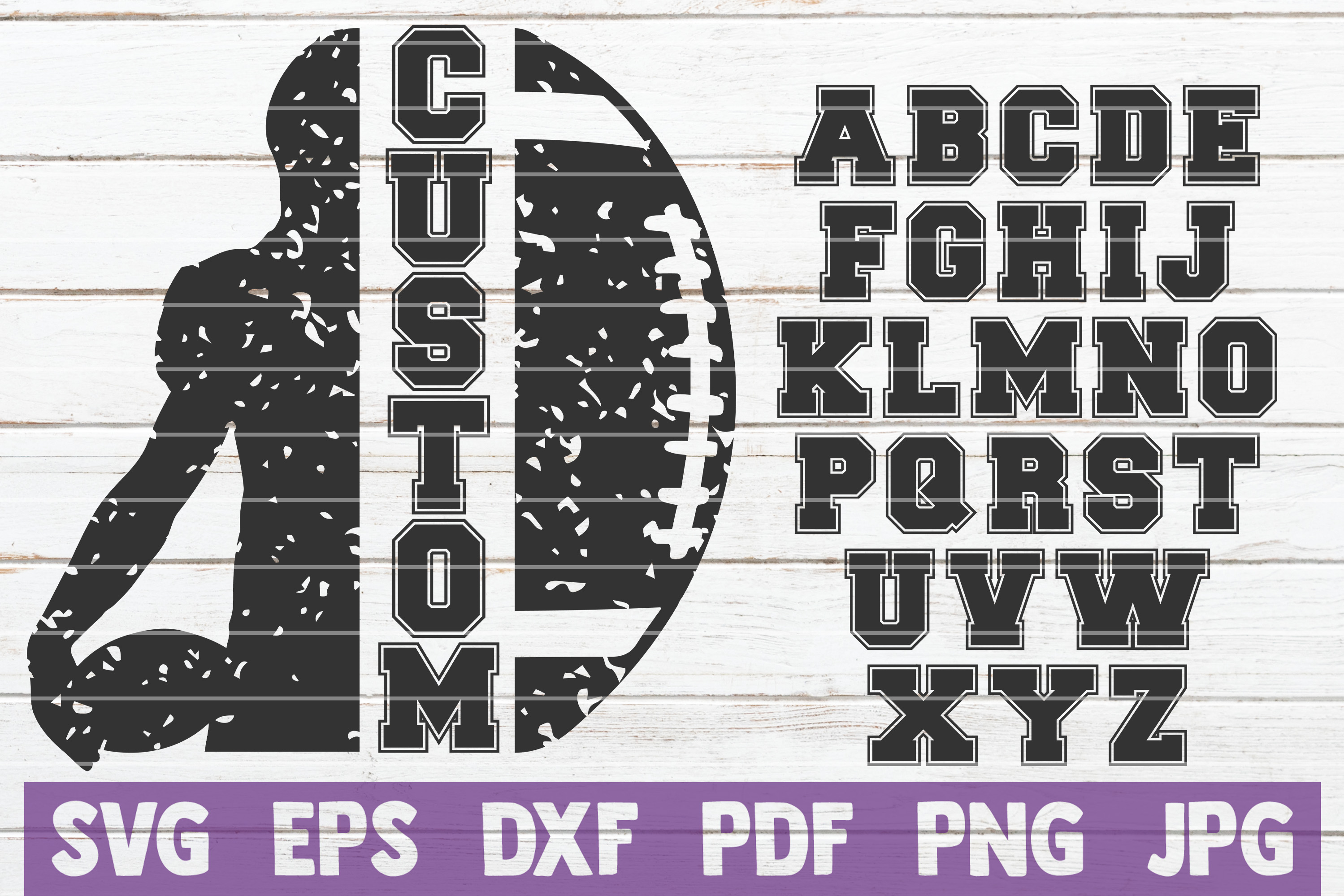 Download Free Football Frame Cut File Graphic By Mintymarshmallows Creative for Cricut Explore, Silhouette and other cutting machines.