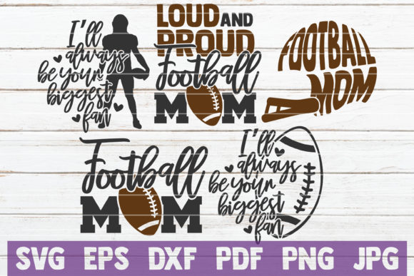 Football Mom Bundle | Cut Files Graphic Crafts By MintyMarshmallows