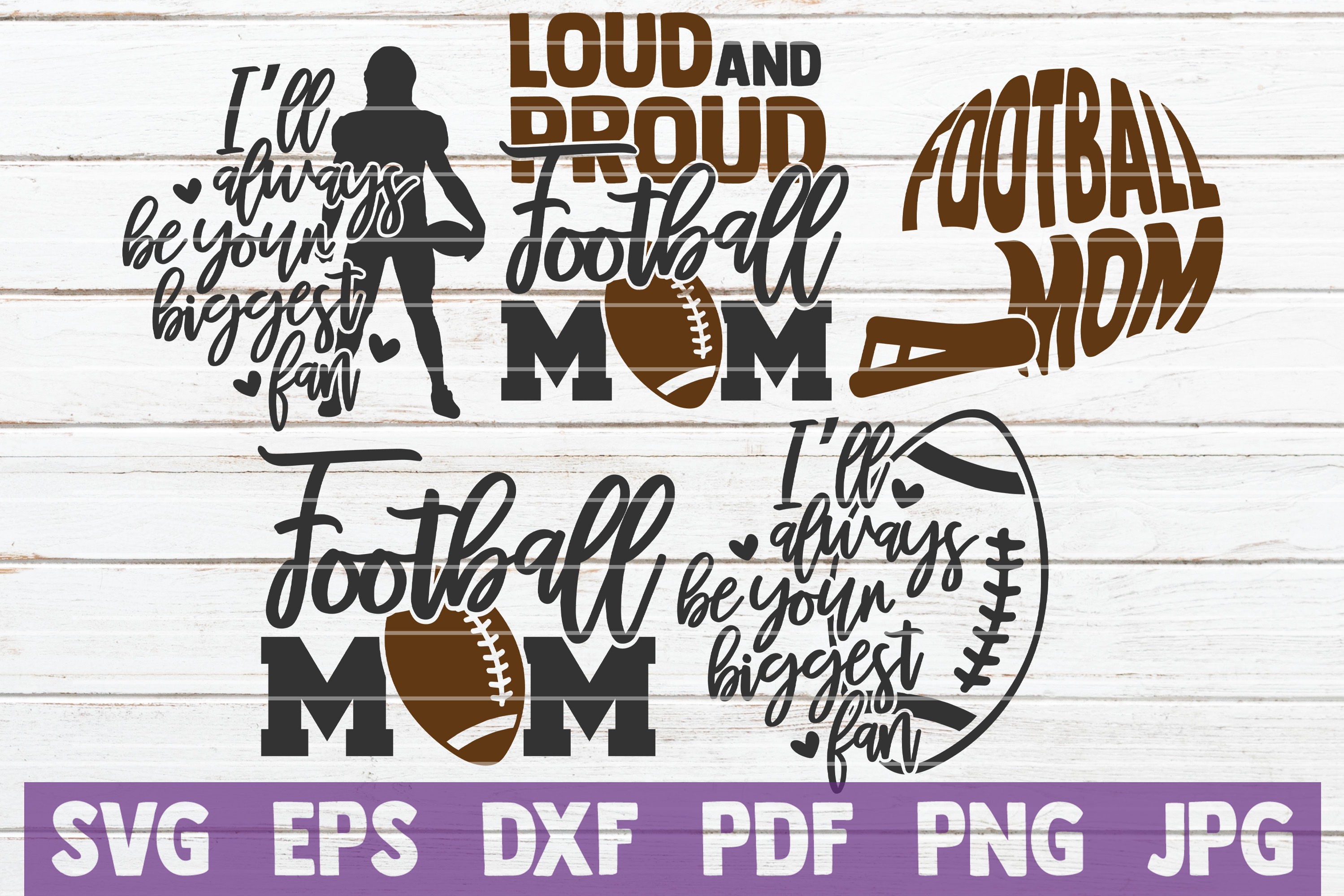 Download Free Football Mom Bundle Cut Files Graphic By Mintymarshmallows for Cricut Explore, Silhouette and other cutting machines.