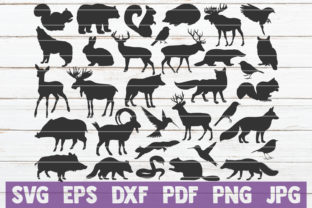 Download Free Forest Animal Silhouettes Svg Bundle Graphic By for Cricut Explore, Silhouette and other cutting machines.
