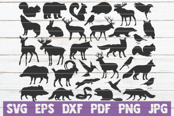 Forest Animal Silhouettes SVG Bundle Gráfico Crafts Por MintyMarshmallows