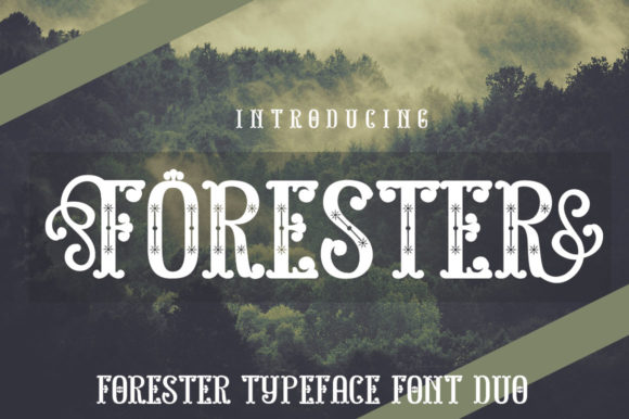 Print on Demand: Forester Display Font By jehansyah251 - Image 1