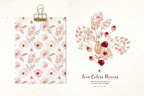 Four Colors Flowers Graphic Illustrations By webvilla - Image 2