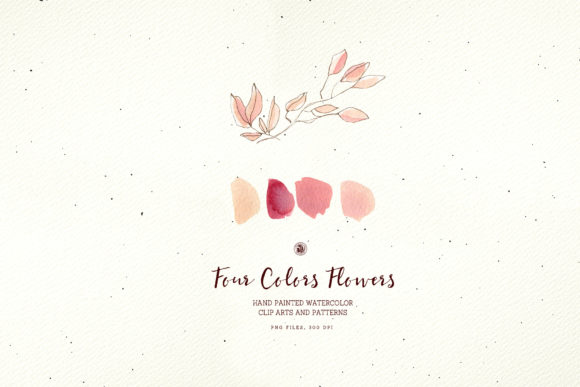 Four Colors Flowers Graphic Illustrations By webvilla - Image 3