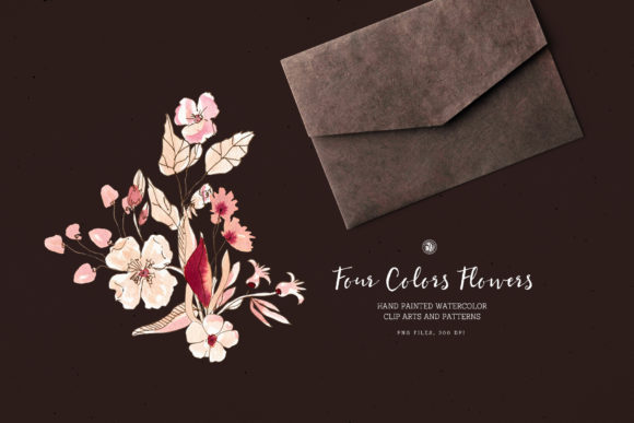 Four Colors Flowers Graphic Illustrations By webvilla - Image 4