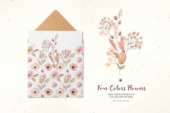 Four Colors Flowers Graphic Illustrations By webvilla - Image 6