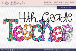 Fourth Grade Teacher Graphic By Southern Belle Graphics