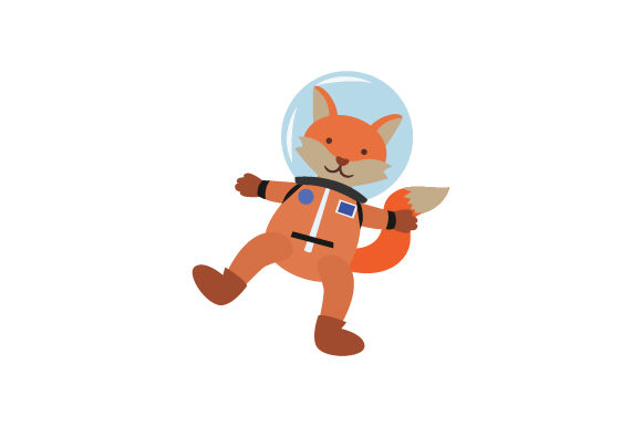 Fox in Space Suit Animals Craft Cut File By Creative Fabrica Crafts