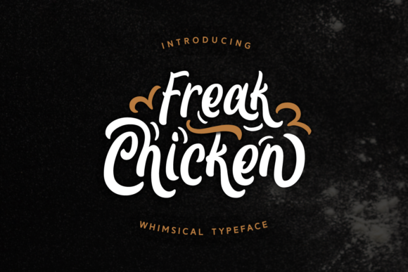 Print on Demand: Freak Chicken Script & Handwritten Font By Dani (7NTypes)
