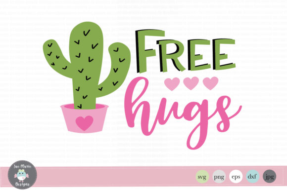 Download Free Free Hugs Cactus Graphic By Thejaemarie Creative Fabrica for Cricut Explore, Silhouette and other cutting machines.