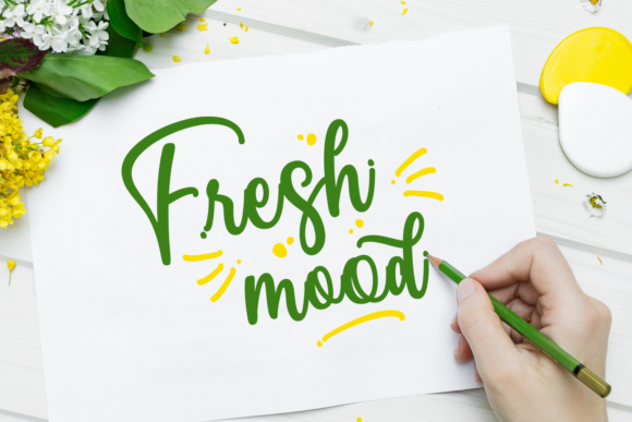 Print on Demand: Fresh Mood Script & Handwritten Font By Dani (7NTypes)