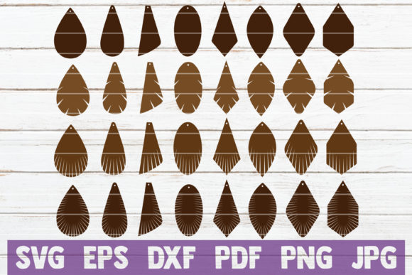 Download Free Fringe Earrings Bundle Svg Cut Files Graphic By for Cricut Explore, Silhouette and other cutting machines.