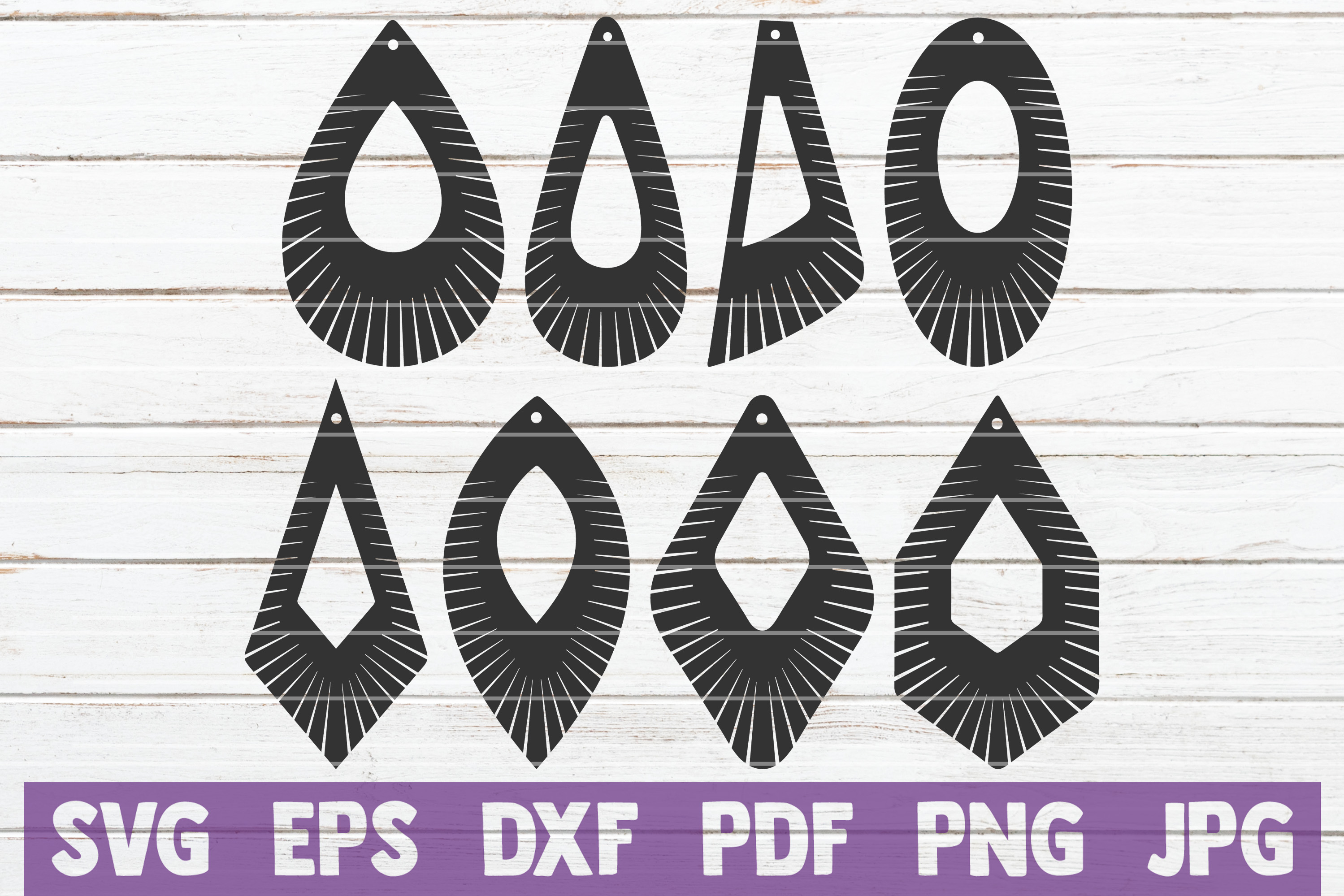 Download Free Fringe Earrings Bundle Graphic By Mintymarshmallows Creative for Cricut Explore, Silhouette and other cutting machines.