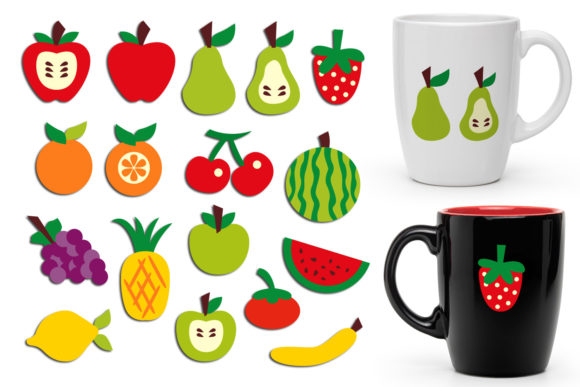 Print on Demand: Fruits Graphic Illustrations By Revidevi