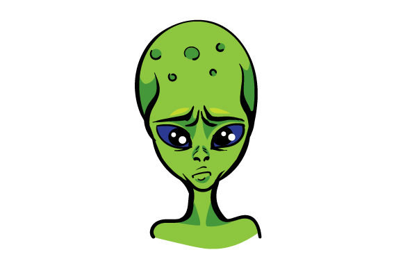 Frustrated Alien Designs & Drawings Craft Cut File By Creative Fabrica Crafts - Image 1