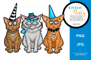 Fun Cat Party Graphic By SLS Lines