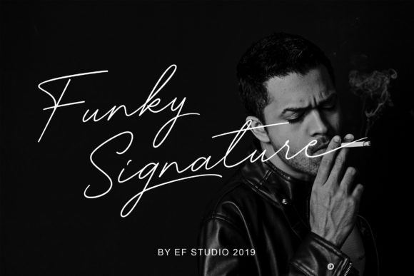 Print on Demand: Funky Signature Script & Handwritten Font By Ef Studio