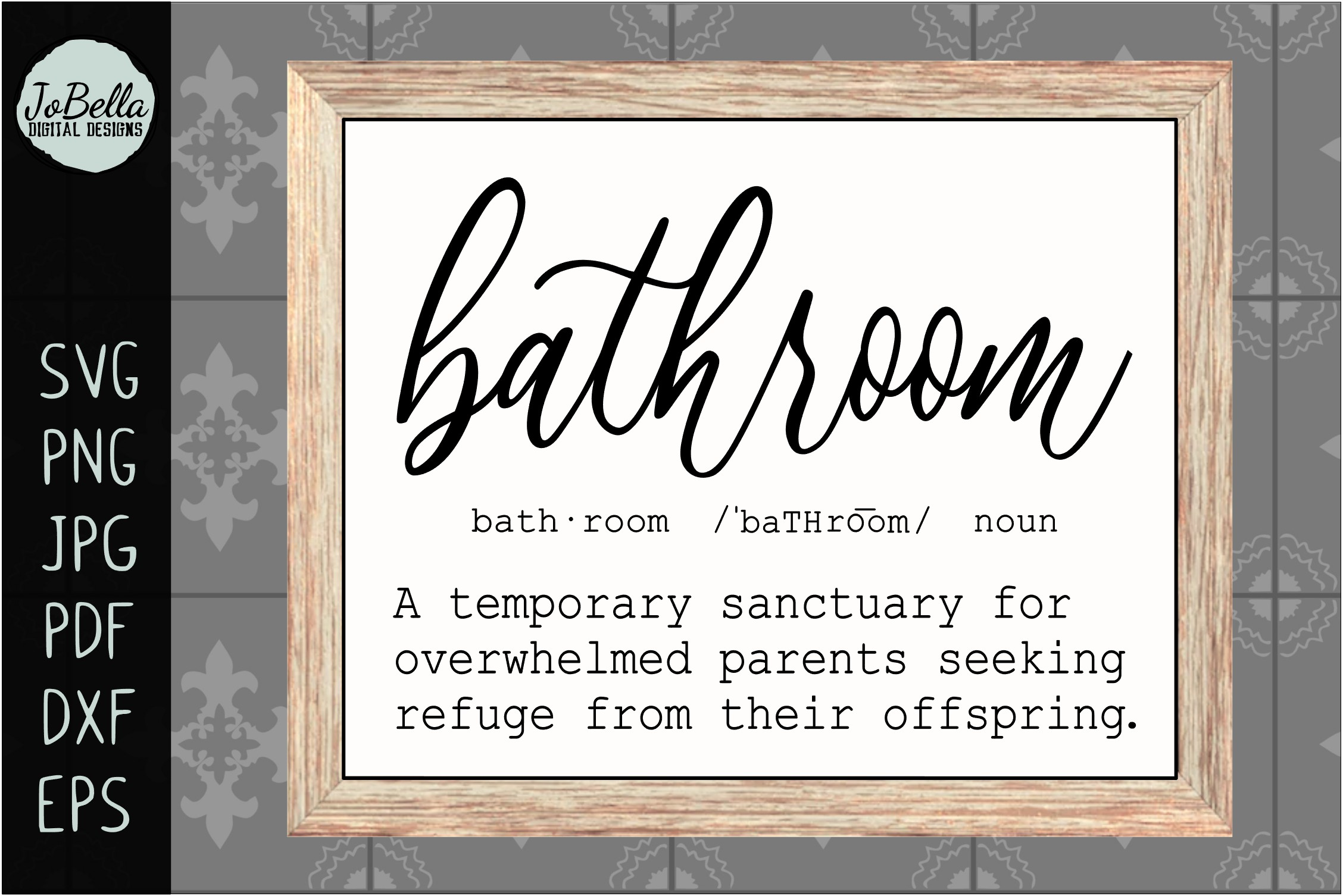 Download Free Funny Bathroom Graphic By Jobella Digital Designs Creative Fabrica for Cricut Explore, Silhouette and other cutting machines.