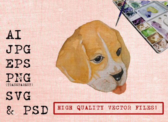Funny Face Dog Graphic By Ambar Art