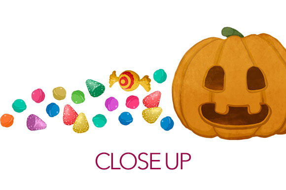 Download Free Funny Halloween Pumpkin With Candies Graphic By Milaski for Cricut Explore, Silhouette and other cutting machines.