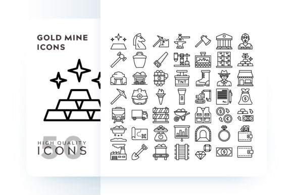 GOLD MINE ICON Graphic Icons By Goodware.Std