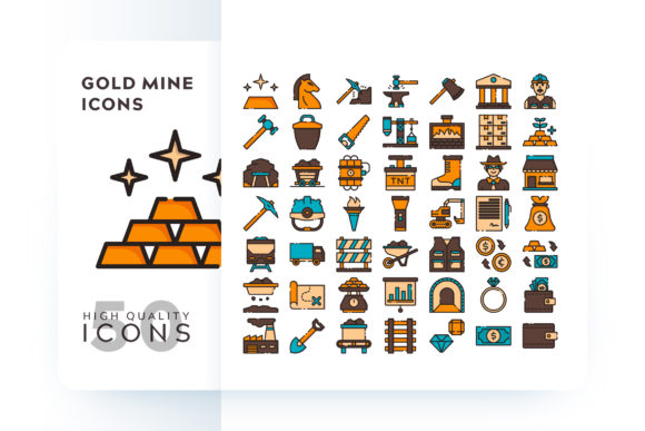 GOLD MINE ICON Graphic Icons By Goodware.Std - Image 1