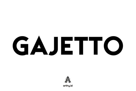 Print on Demand: Gajetto Display Font By Arthy