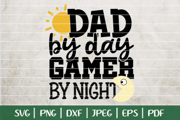 Gamer Dad Graphic Logos By SeventhHeaven Studios